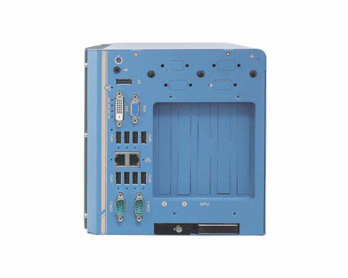 Nuvo-8108GC-XL: Industrietaugliche Edge-KI-Plattform mit Unterstützung für NVIDIA® RTX 30-GPU und für Intel® Xeon® E- oder 8./9.-Gen Core™-CPUs - front